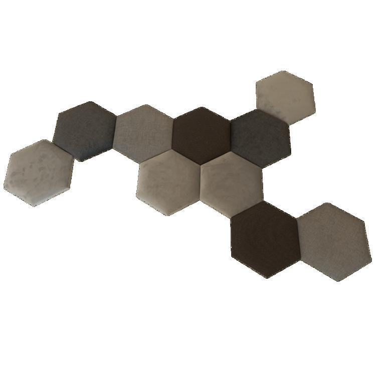 Obrazek Panel tapicerowany hexagon