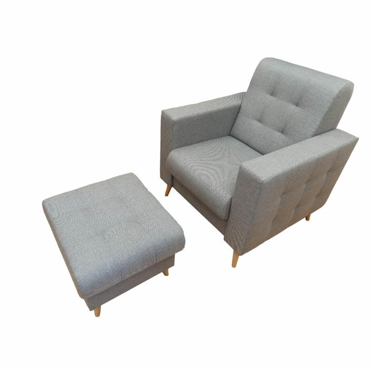 Fotel szymon do salonu z podnóżkiem